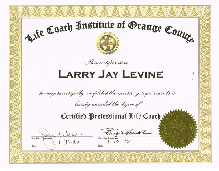 Larry Levine Prison Consultant Life Coach