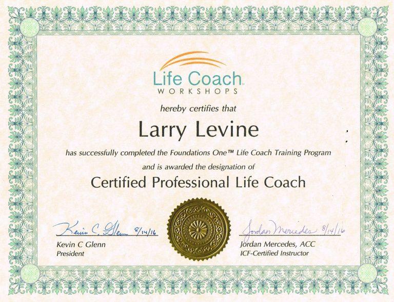 Larry Levine Life Coach