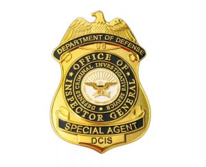 DOD OIG Inspector General Badge